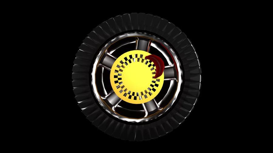 Car Wheel 1 royalty-free 3d model - Preview no. 4