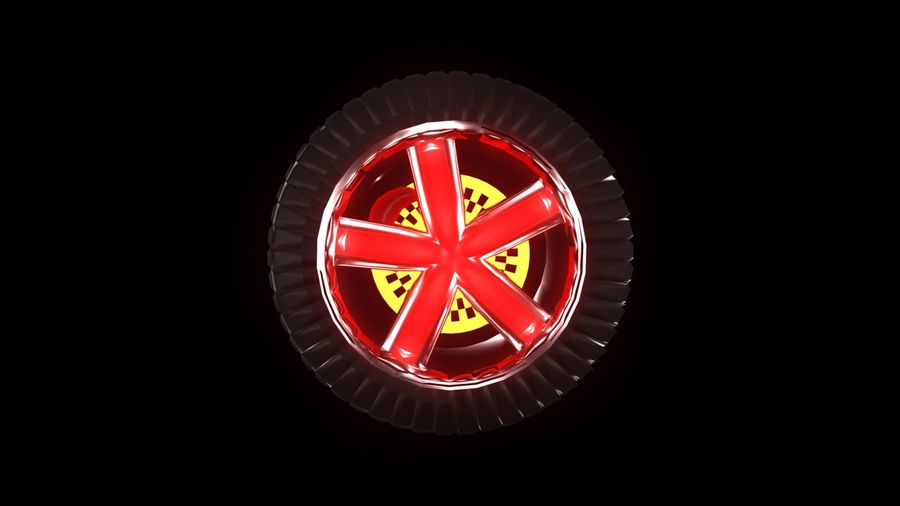Car Wheel 1 royalty-free 3d model - Preview no. 2