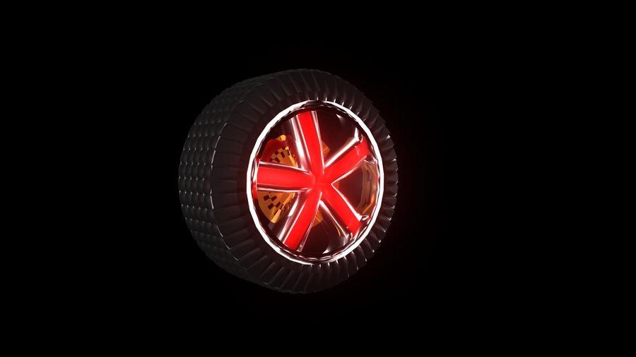 Car Wheel 1 royalty-free 3d model - Preview no. 1