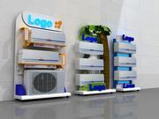 3 Klimaanlage steht Design. 3d model