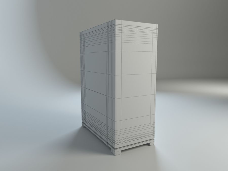 Cassetto Zgallerie York royalty-free 3d model - Preview no. 8