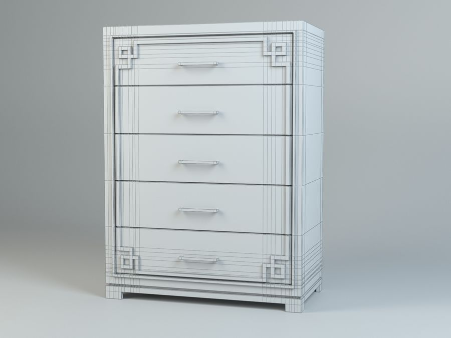 Cassetto Zgallerie York royalty-free 3d model - Preview no. 5