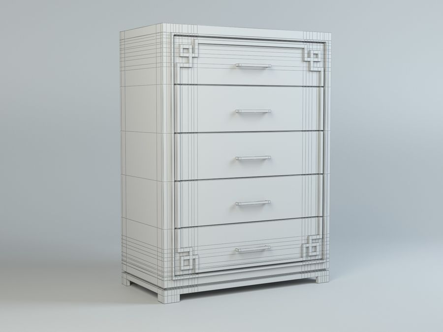 Cassetto Zgallerie York royalty-free 3d model - Preview no. 7
