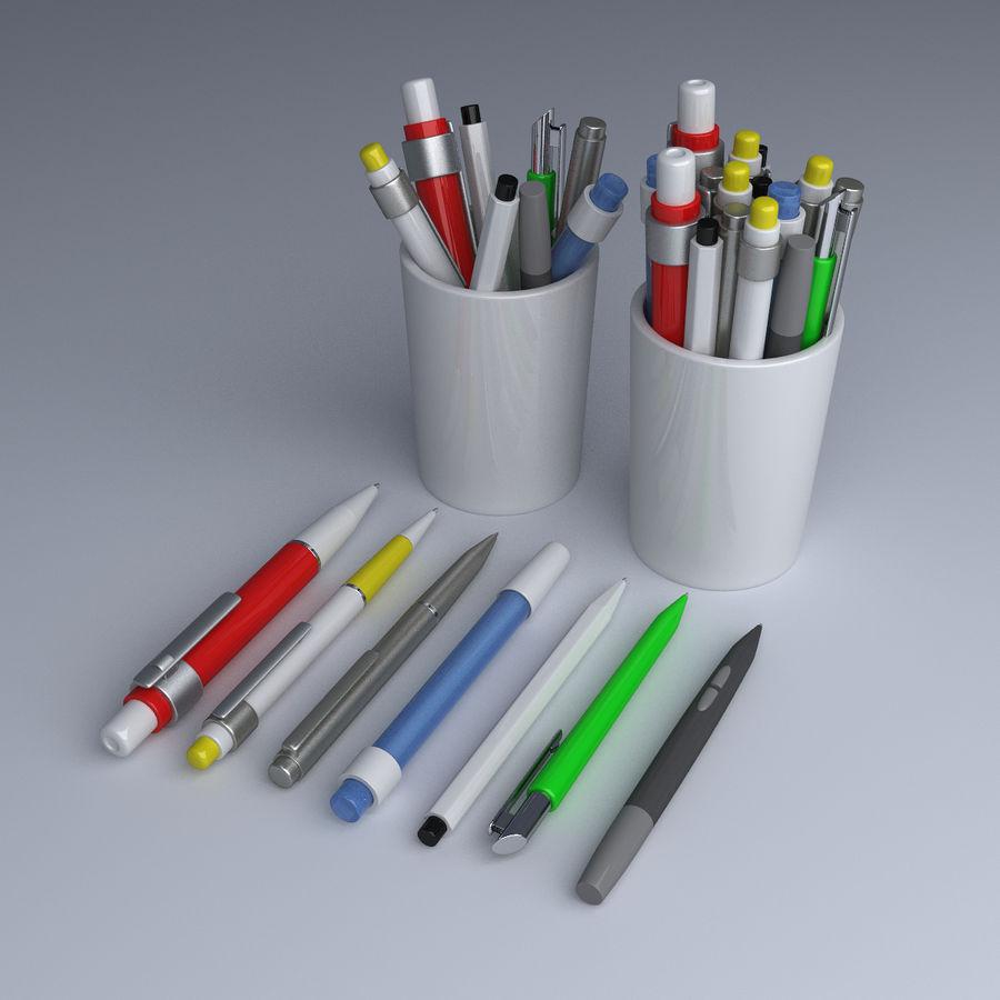 Kolekcja długopisów royalty-free 3d model - Preview no. 1