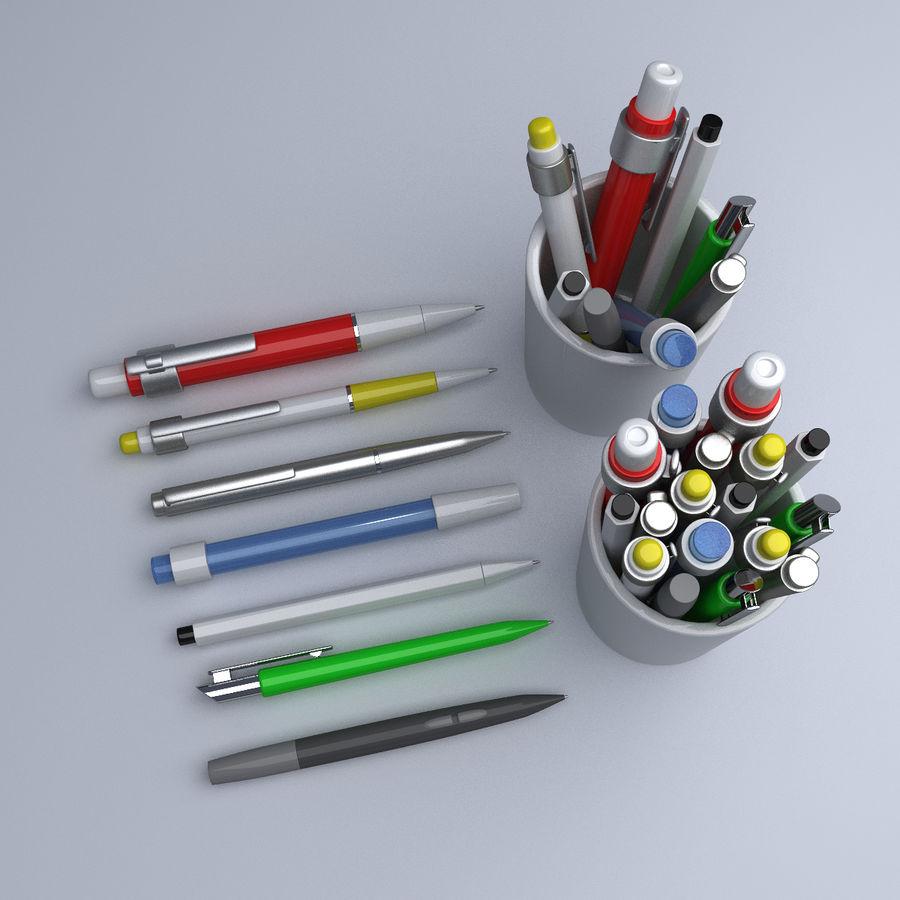 Kolekcja długopisów royalty-free 3d model - Preview no. 2