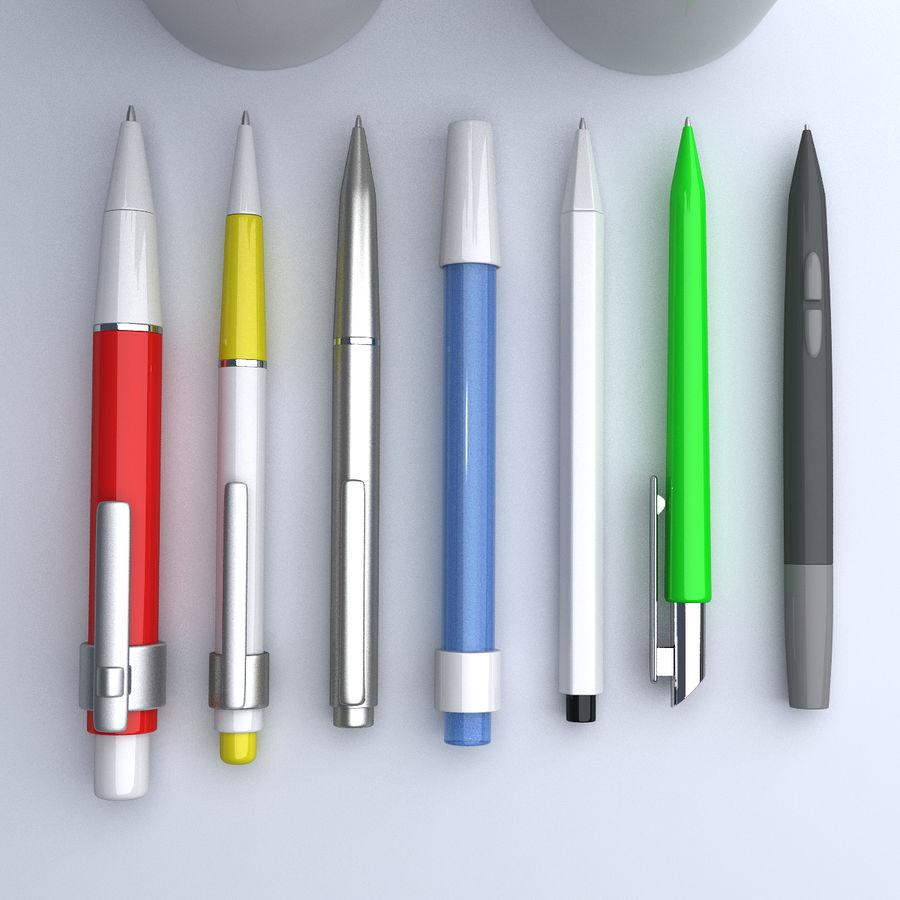 Kolekcja długopisów royalty-free 3d model - Preview no. 5