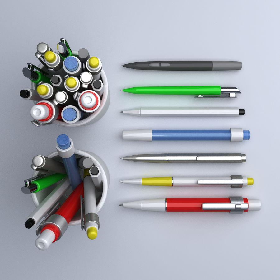 Kolekcja długopisów royalty-free 3d model - Preview no. 4