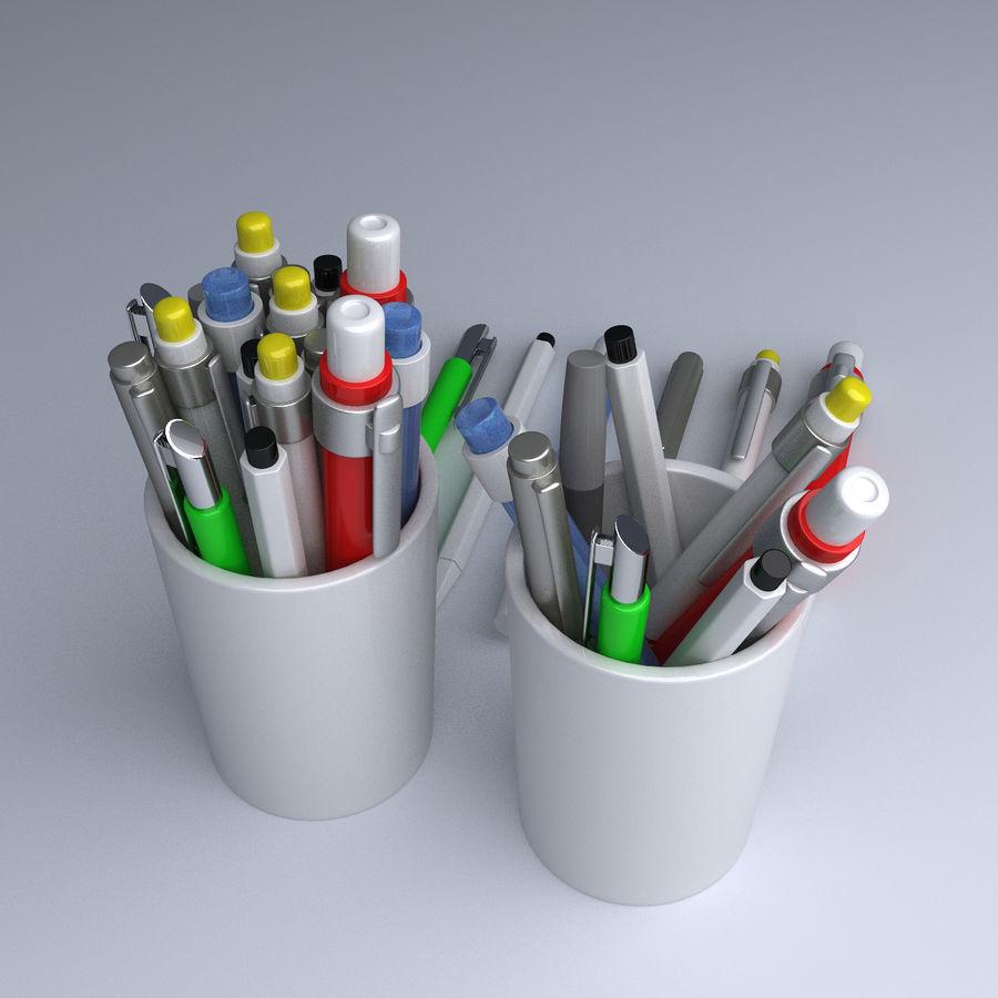 Kolekcja długopisów royalty-free 3d model - Preview no. 3