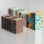 30 books collection include 7 old books 3d model