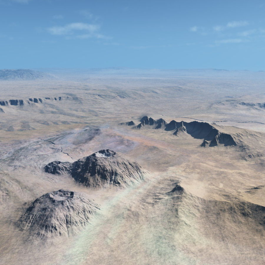 Volcanic terrain for Vue royalty-free 3d model - Preview no. 2