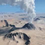 Volcanic terrain for Vue 3d model