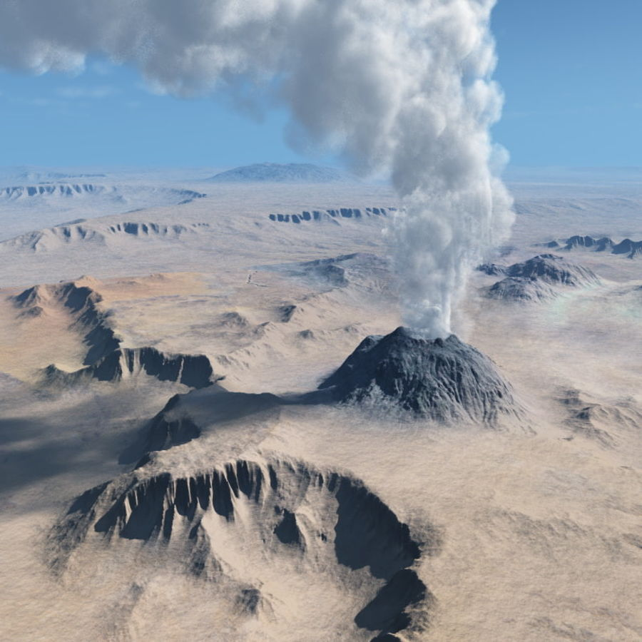 Volcanic terrain for Vue royalty-free 3d model - Preview no. 1
