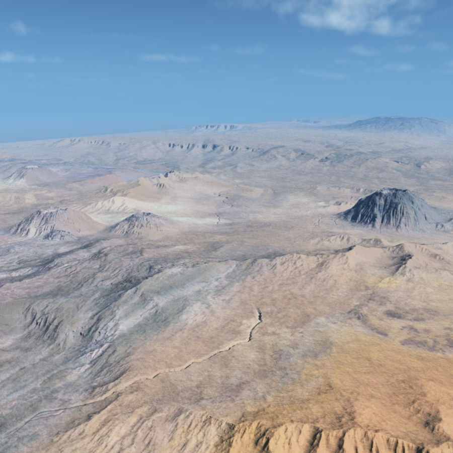Volcanic terrain for Vue royalty-free 3d model - Preview no. 3