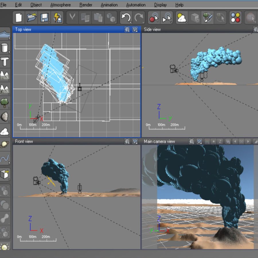 Volcanic terrain for Vue royalty-free 3d model - Preview no. 7