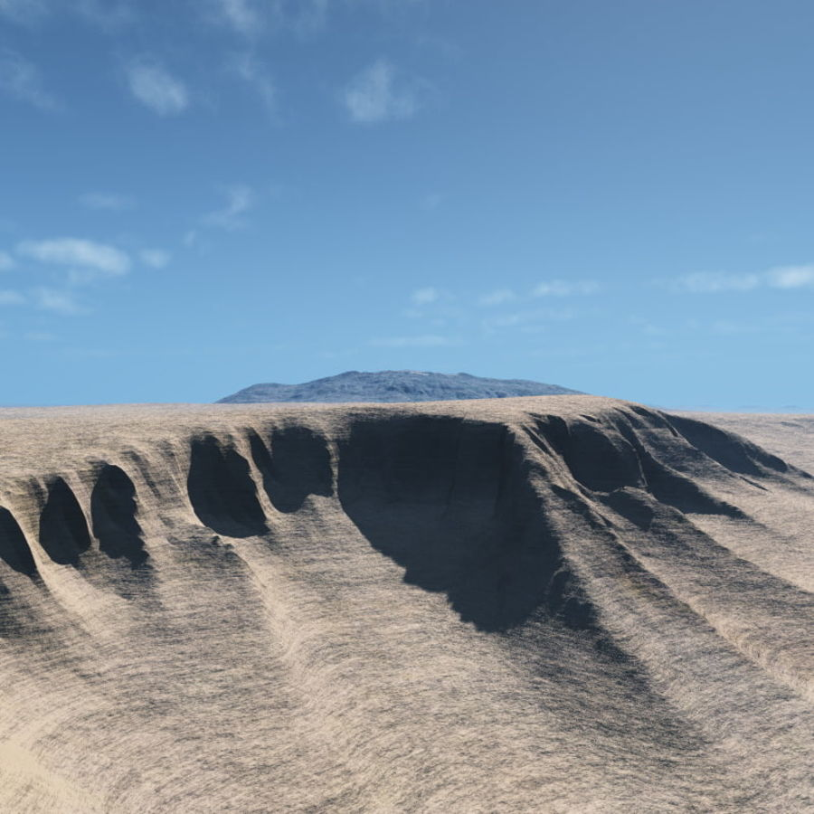 Volcanic terrain for Vue royalty-free 3d model - Preview no. 4