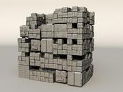 Sci fi Box Building 2 3d model