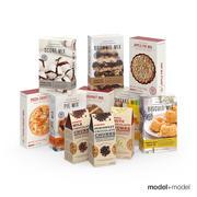 Baking mix boxes 3d model