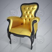 klasik kol chaire 3d model