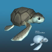 Pakiet życia morskiego Lowpoly 3d model
