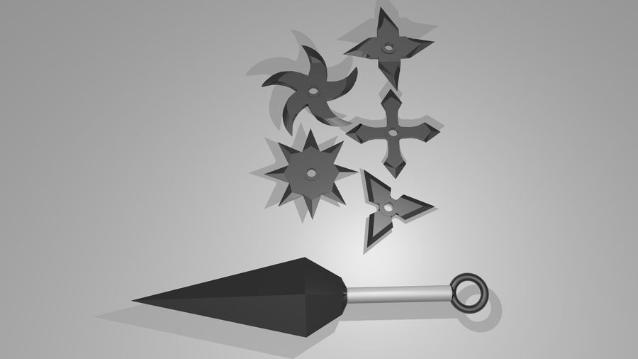 Ninja Weapons royalty-free 3d model - Preview no. 1