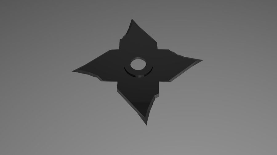 Ninja Weapons royalty-free 3d model - Preview no. 4