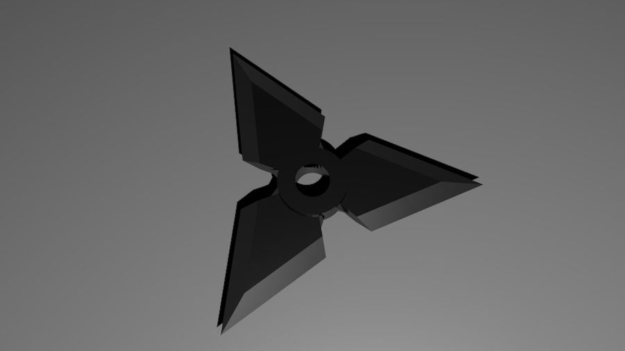 Ninja Weapons royalty-free 3d model - Preview no. 2
