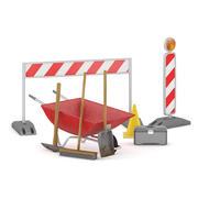 Road Construction Equipment 3d model