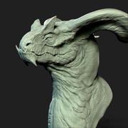 드래곤 헤드 3D 프린트 3d model