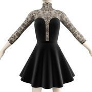 Svart klänning 3d model