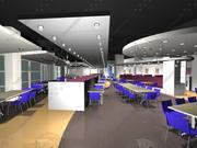 Kafeteria Restauracyjna 3d model