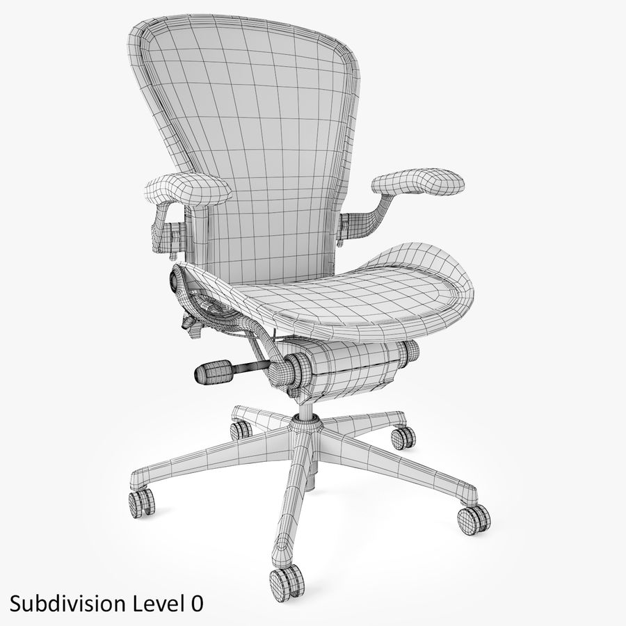 Chaise de bureau Herman Miller Aeron royalty-free 3d model - Preview no. 9