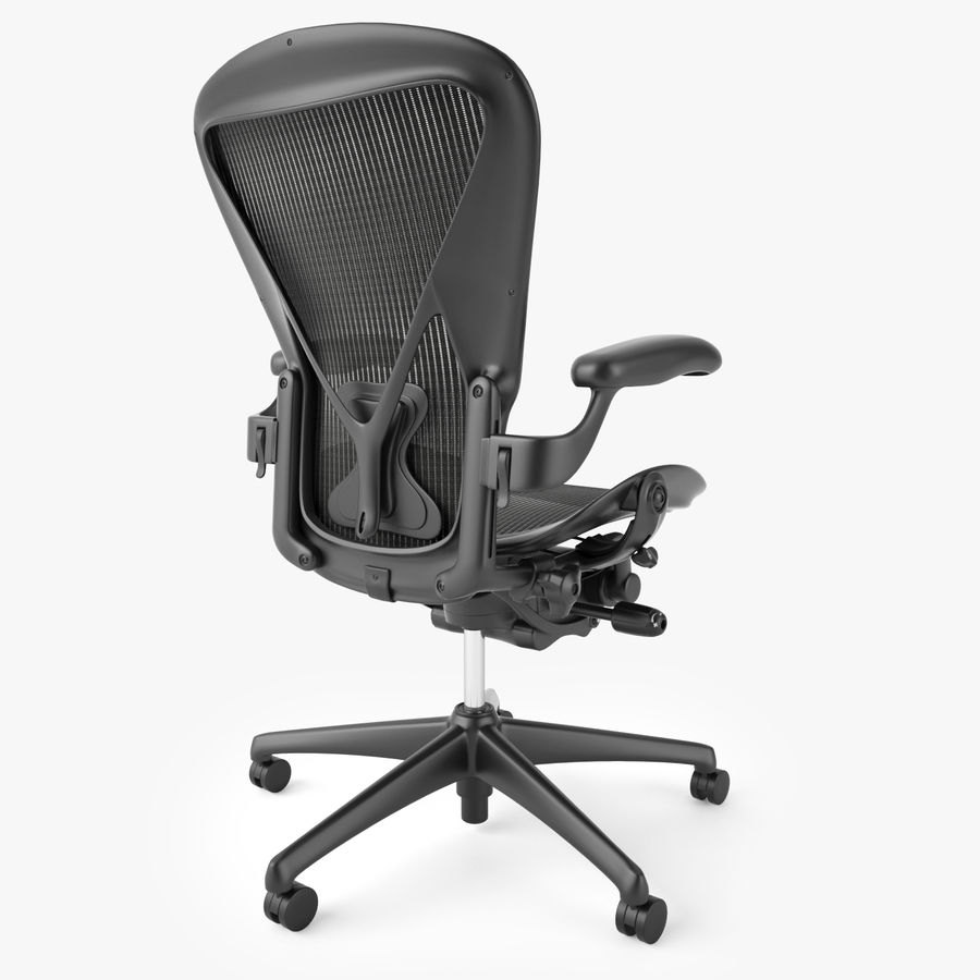 Chaise de bureau Herman Miller Aeron royalty-free 3d model - Preview no. 6