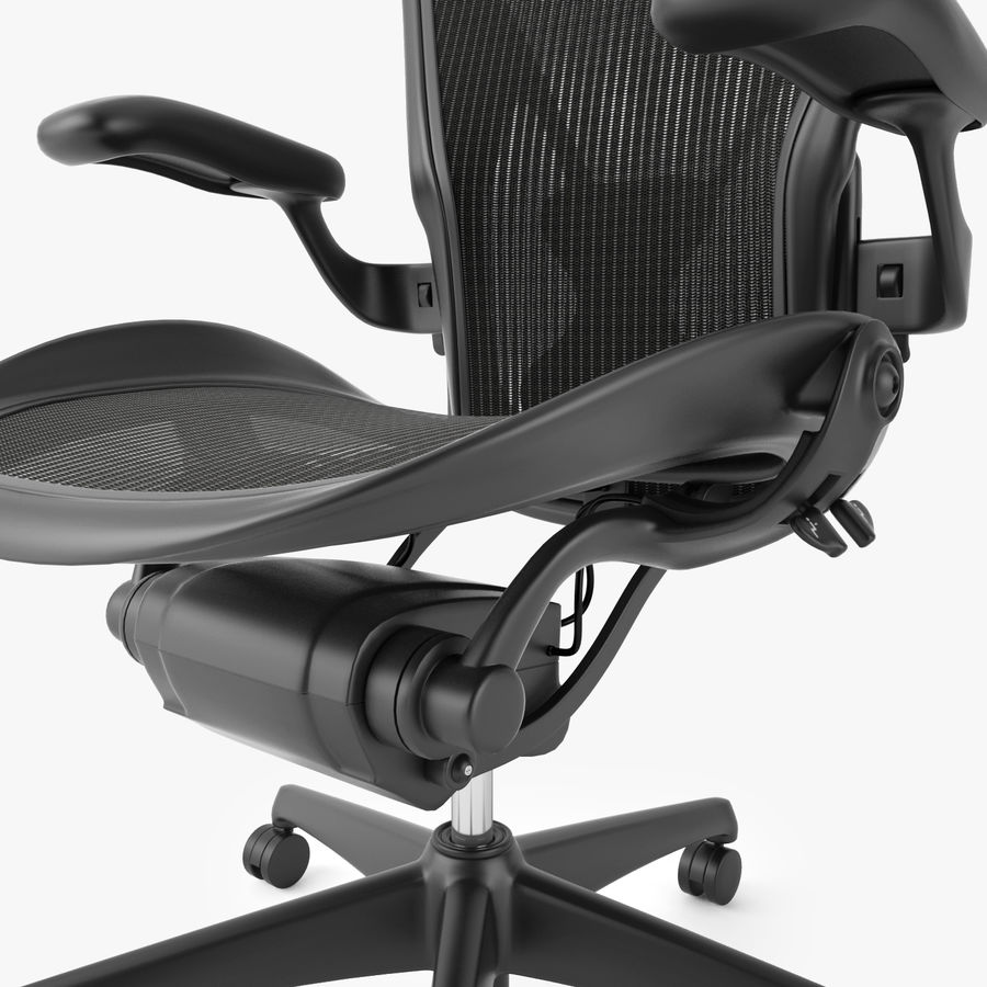 Chaise de bureau Herman Miller Aeron royalty-free 3d model - Preview no. 5