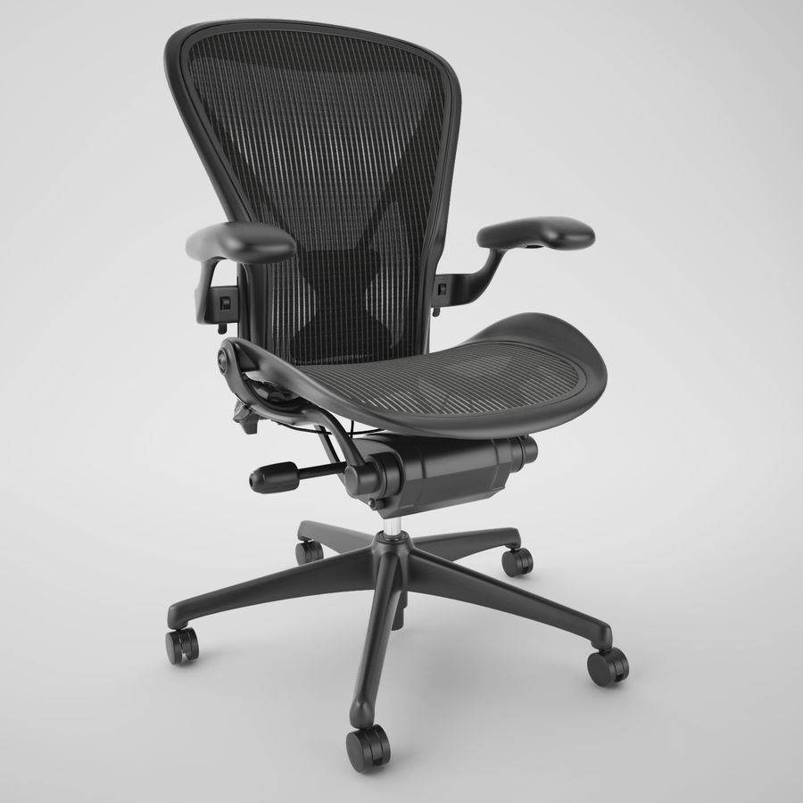 Chaise de bureau Herman Miller Aeron royalty-free 3d model - Preview no. 2