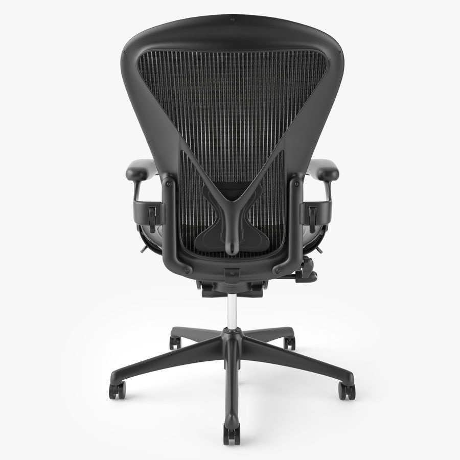 Chaise de bureau Herman Miller Aeron royalty-free 3d model - Preview no. 7