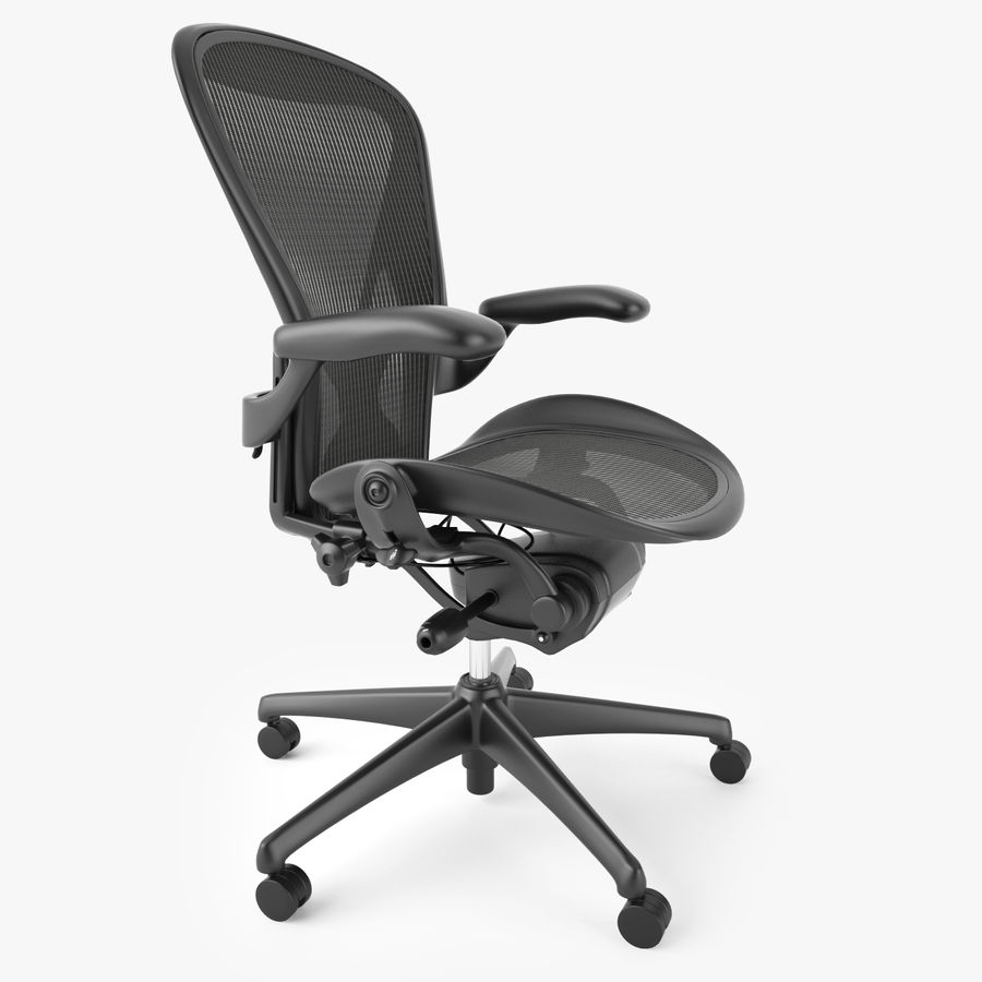 Chaise de bureau Herman Miller Aeron royalty-free 3d model - Preview no. 4