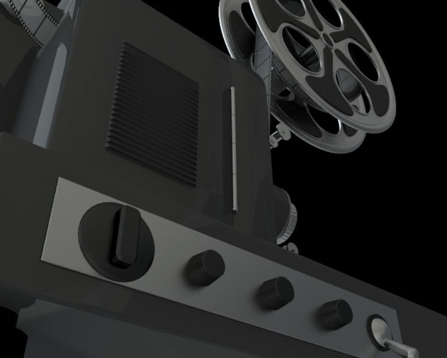 Projector royalty-free 3d model - Preview no. 3