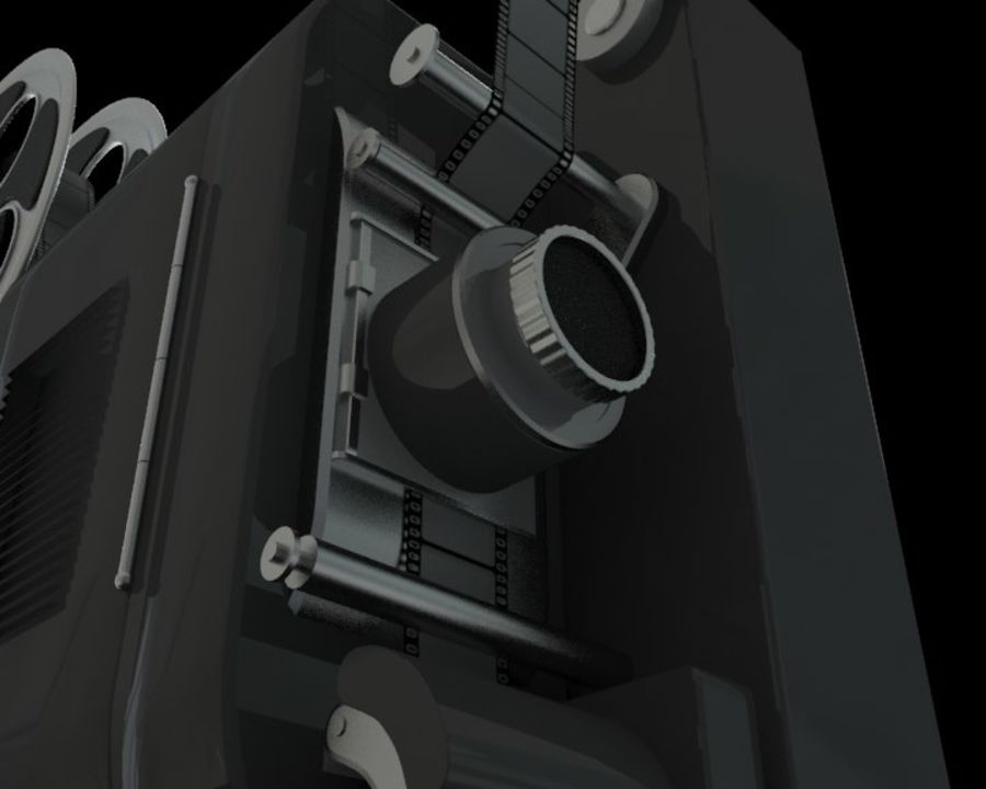 Projector royalty-free 3d model - Preview no. 2