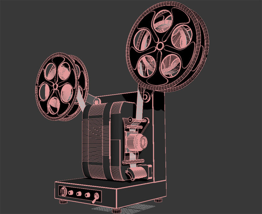 Projector royalty-free 3d model - Preview no. 5