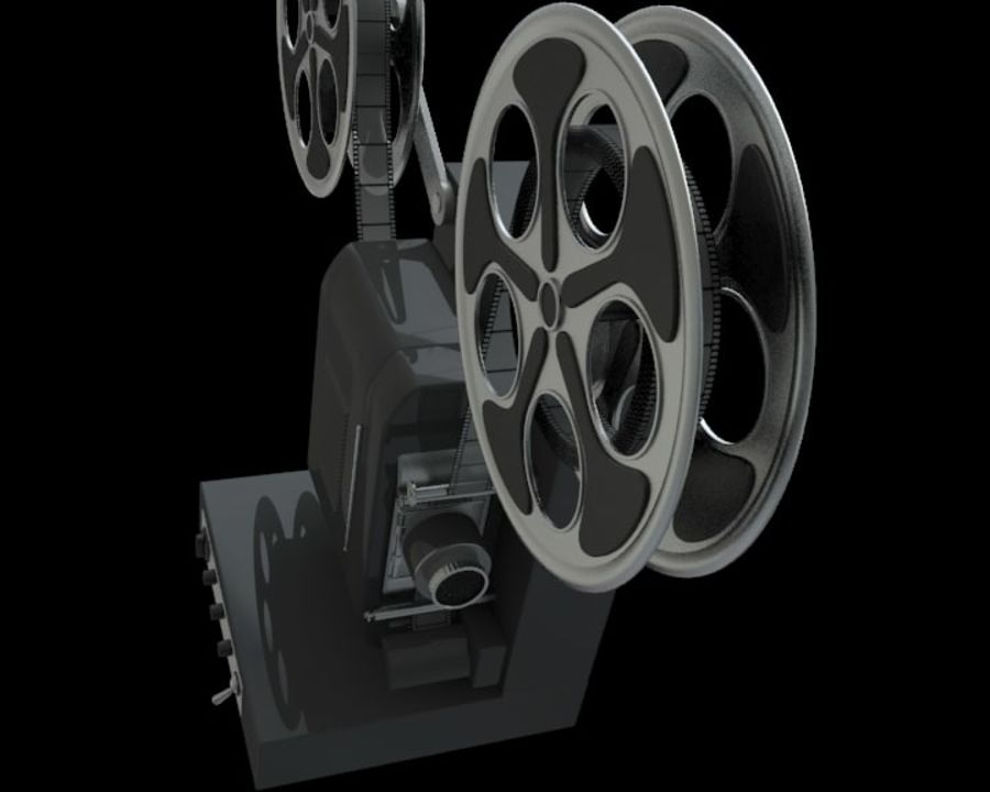 Projector royalty-free 3d model - Preview no. 4