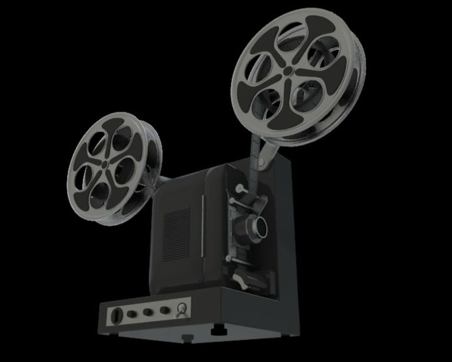 Projector royalty-free 3d model - Preview no. 1