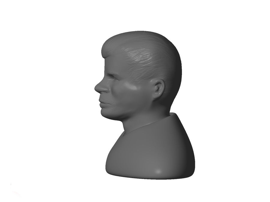 男性の頭 royalty-free 3d model - Preview no. 3