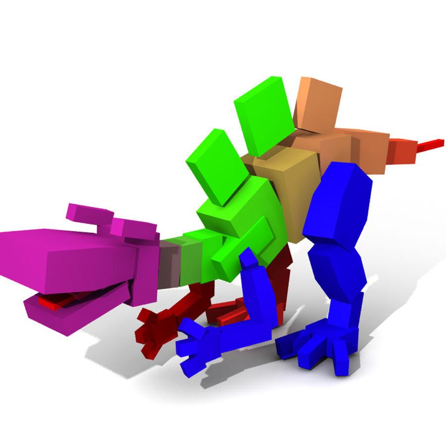 Cartoon Spinosaurus royalty-free 3d model - Preview no. 4