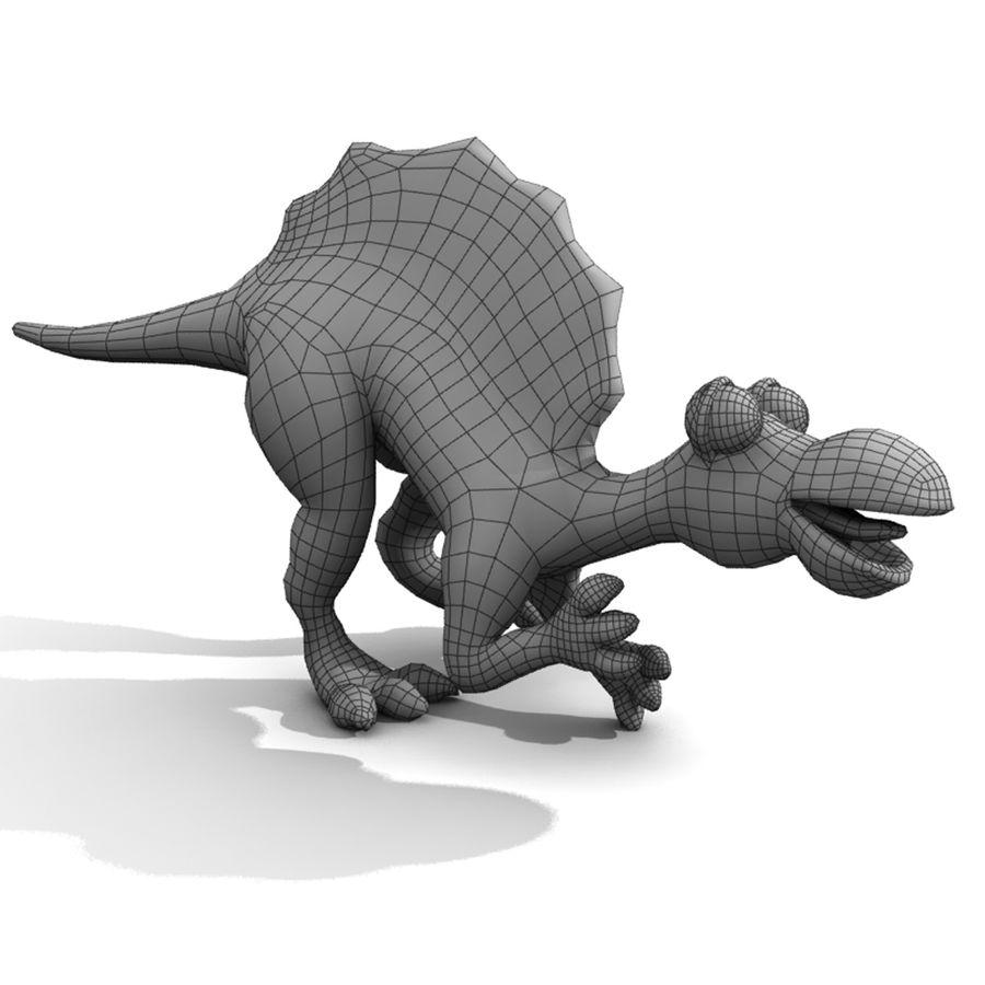Cartoon Spinosaurus royalty-free 3d model - Preview no. 6