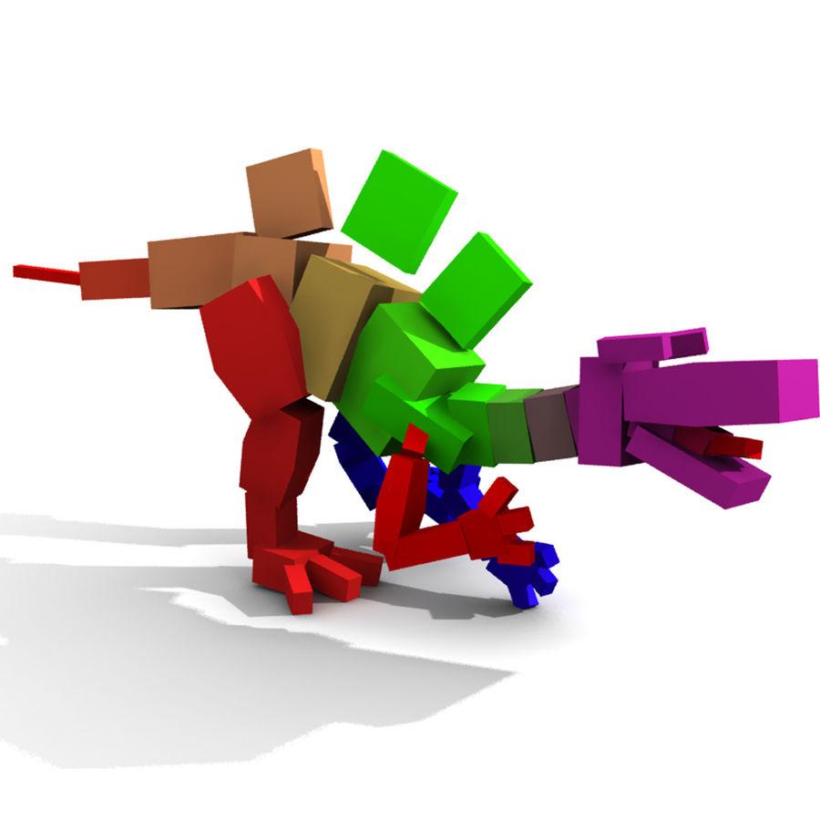 Cartoon Spinosaurus royalty-free 3d model - Preview no. 7
