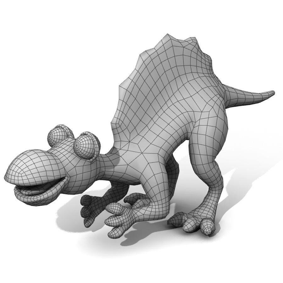Cartoon Spinosaurus royalty-free 3d model - Preview no. 3
