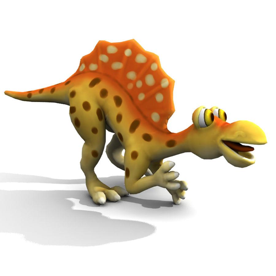 Cartoon Spinosaurus royalty-free 3d model - Preview no. 5
