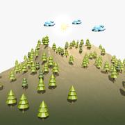 Cartoon Landschaft 3d model