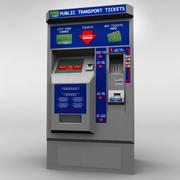 Maszyna biletowa autobusowa low poly 3d model