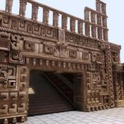 Azteckie wnętrze 3d model